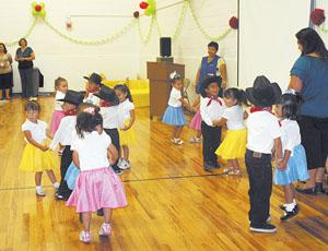 One of the preschool classes at the Malheur County Oregon Child Development Coalition performed a Mexican Hat Dance at the 40th anniversary celebration Friday at OCDC in Ontario.